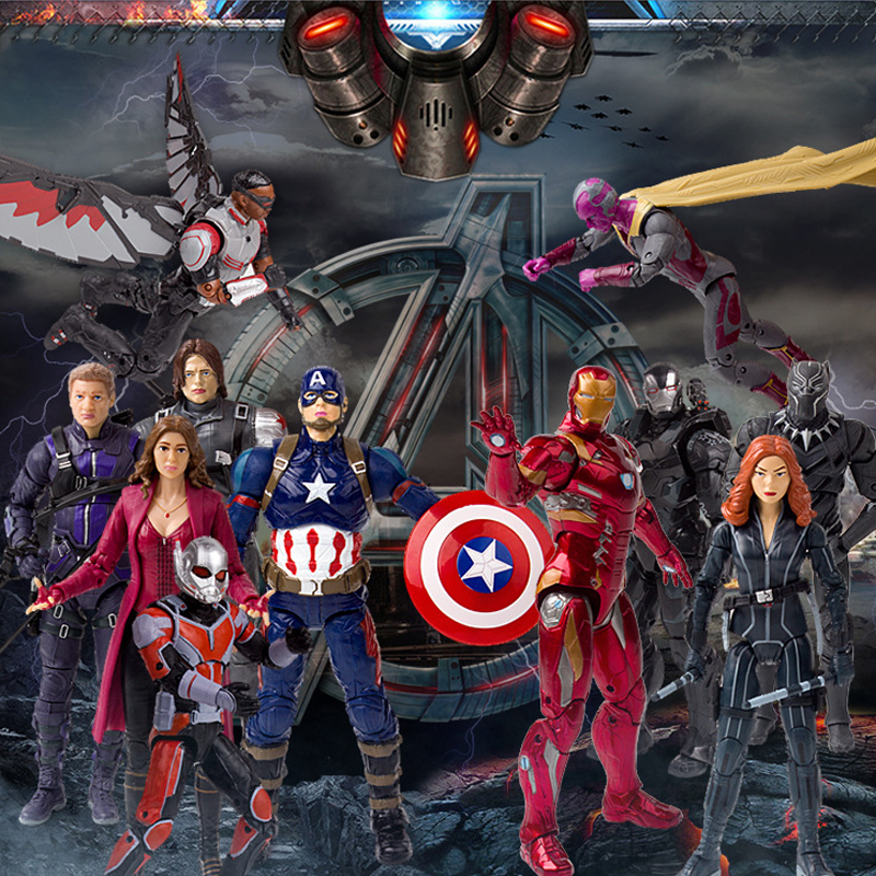 "Disney 7"" PVC Avenger Alliance Anime Series US Captain Model Toy"